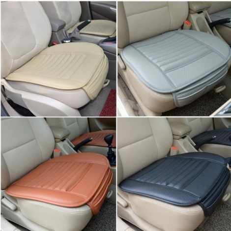 Universal Seat Cushion PU Leather Car Seat Cover for Auto Car Office Chairs Black