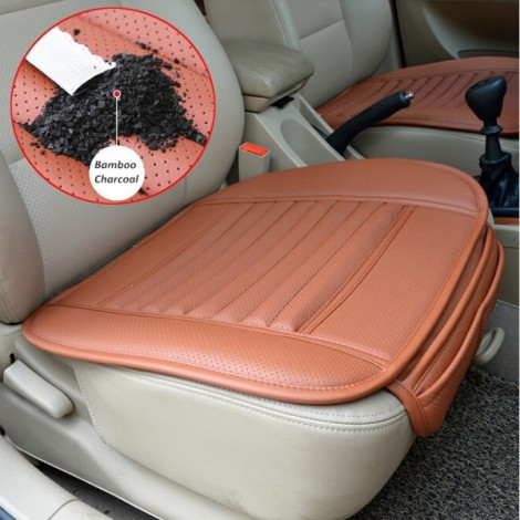 Universal Seat Cushion PU Leather Car Seat Cover for Auto Car Office Chairs Orange