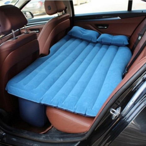 Self-drive Inflatable Car Bed Air Mattress without Ear Blue