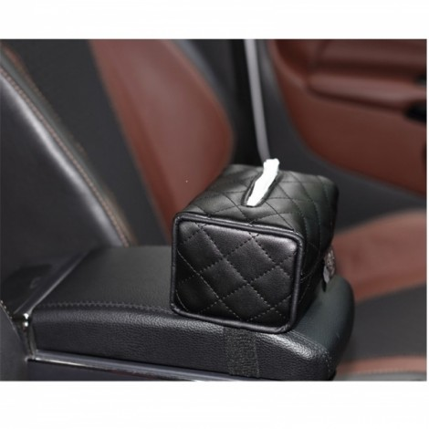 Newfashioned Car Tissue Box Hanging Style Automotive Supplies Black