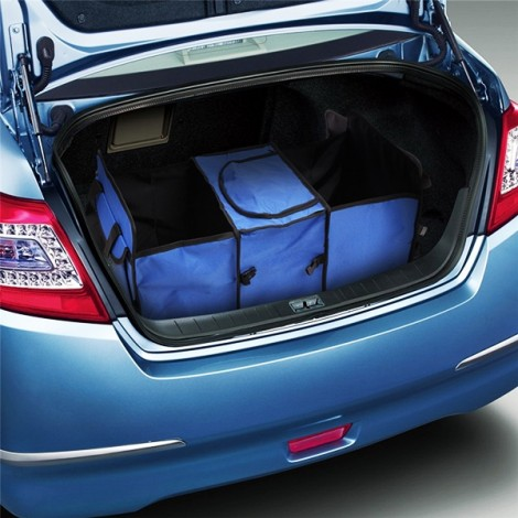 Oxford Cloth Collapsible Car Storage Box Trunk Storage Compartment Blue