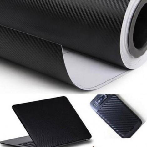 127 x 30cm DIY 3D Car Sticker Carbon Fiber Film Vinyl Black