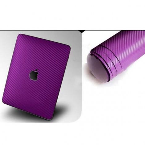 127 x 30cm DIY Personalized 3D Car Sticker Carbon Fiber Film Vinyl Purple