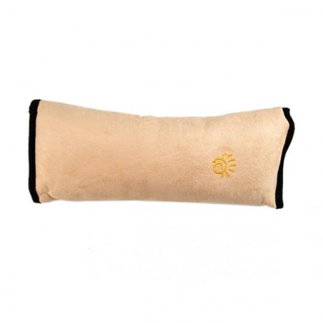Cute Children Car Seat Belt Shoulder Protection Back Cushion Pad Beige