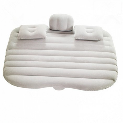 Inflatable Car Bed Air Mattress Camping with Ear Beige