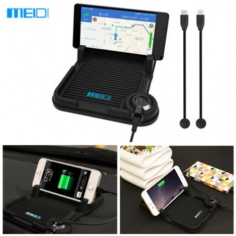 MEIDI Car Cellphone Magnetic Adsorption Charging Holder Cradle Stand for iPhone / Android Black