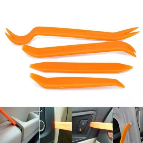 Portable Practical Automotive Panel Plastic Trim Removal Tool Set Orange