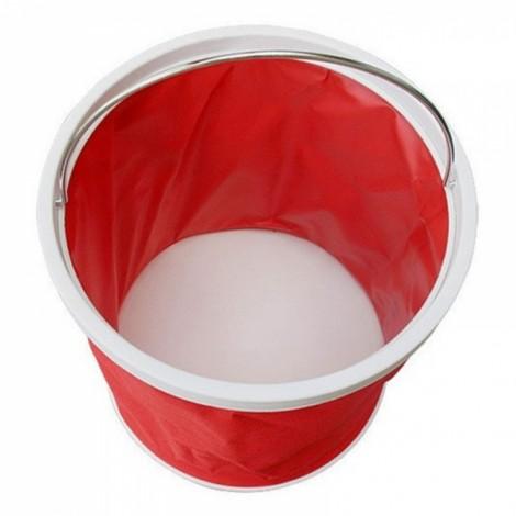 11L Retractable Folding Portable Fishing Bucket Car Wash Water Bucket Barrel Red