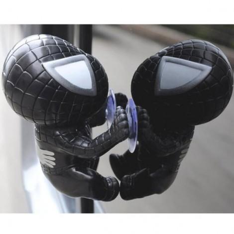 Climbing Spider Doll Window Sucker Toy Black