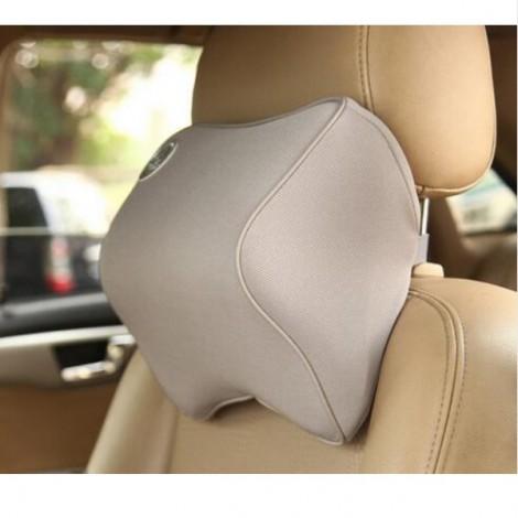 Car Memory Cotton Headrest Supplies Neck Auto Safety Pillow Gray