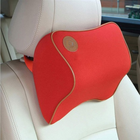 Car Memory Cotton Headrest Supplies Neck Auto Safety Pillow Red