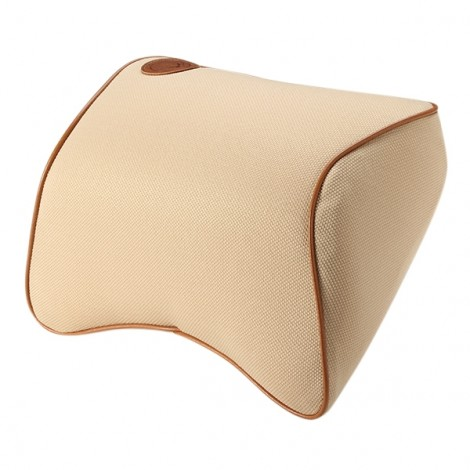 Car Memory Cotton Headrest Supplies Neck Auto Safety Pillow Beige