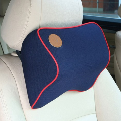 Car Memory Cotton Headrest Supplies Neck Auto Safety Pillow Blue