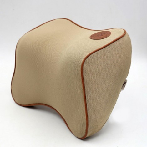 Car Memory Cotton Headrest Supplies Neck Auto Safety Pillow Dark Beige