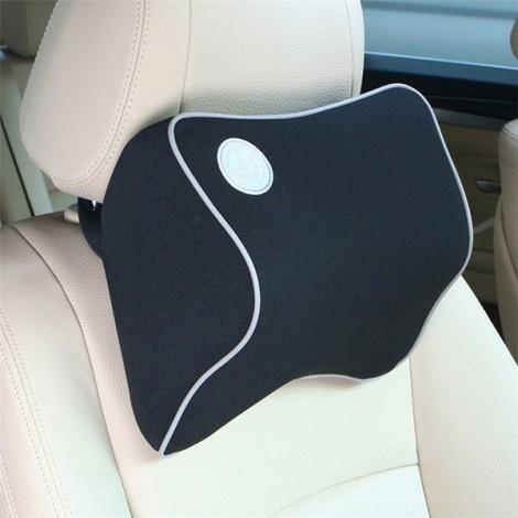 Car Memory Cotton Headrest Supplies Neck Auto Safety Pillow Black
