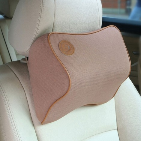 Car Memory Cotton Headrest Supplies Neck Auto Safety Pillow Coffee