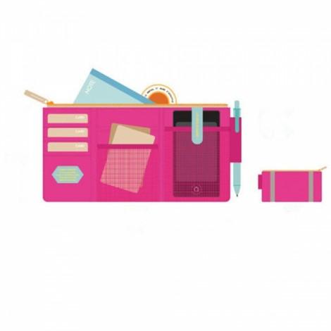 Multifunction Car Sun Visor Storage Pocket Organizer Bag Pouch Card Holder Rose Red