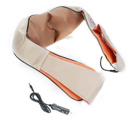 Car Home 3D Kneading Pillow Infrared Heating Massager Acupuncture Neck Shoulder Massage Cushion EU Plug