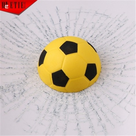Car Styling 3D Football Hits Funny Car Sticker Decal Yellow