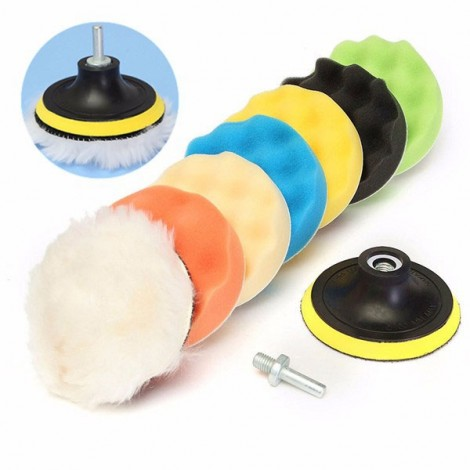 8pcs 4 inch Woolen Polishing/Buffing Pad Kit for Car Polisher