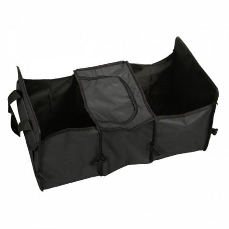 Multifunctional Collapsible Car Boot Travel Storage Bag Non-woven Tool Organizer Black