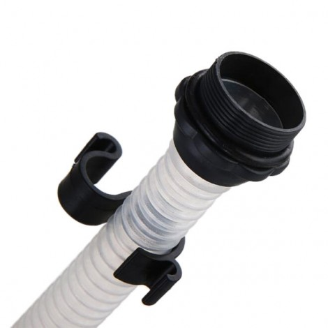 Car Manual Siphon Pump Portable Gas Diesel Oil Pipe Water Liquid Transfer Pump Tube White & Black