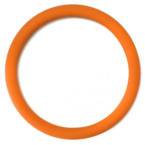Soft Non-Slip Silicone Car Auto Steering Wheel Cover Orange