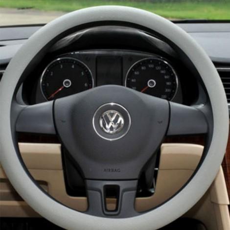 Soft Non-Slip Silicone Car Auto Steering Wheel Cover Light Gray