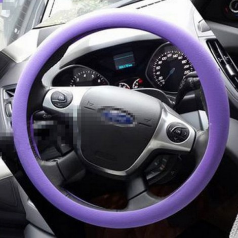 Soft Non-Slip Silicone Car Auto Steering Wheel Cover Purple