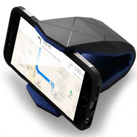 Universal Car Mount Clamp Style Mobile Smart Phone Holder Dock Cradle Stand Holder Gray & Black