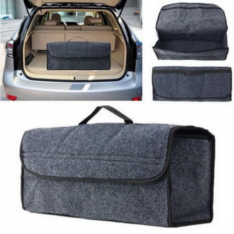 Car Seat Back Storage Bag Rear Travel Organizer Holder Interior Bag Box Gray