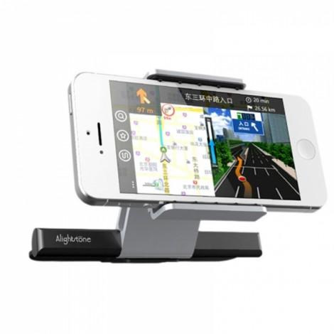 """Alightstone Universal 360-Degree Rotation CD Slot Car Phone Mount Holder for 3.5-5.5"""" Cellphone Black & Silver"""
