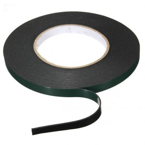 10MM x 10M x 1MM Strong Waterproof Adhesive Double Sided Foam Tape Car Trim Plate