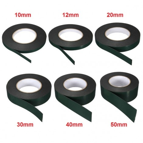 20MM x 10M x 1MM Strong Waterproof Adhesive Double Sided Foam Tape Car Trim Plate