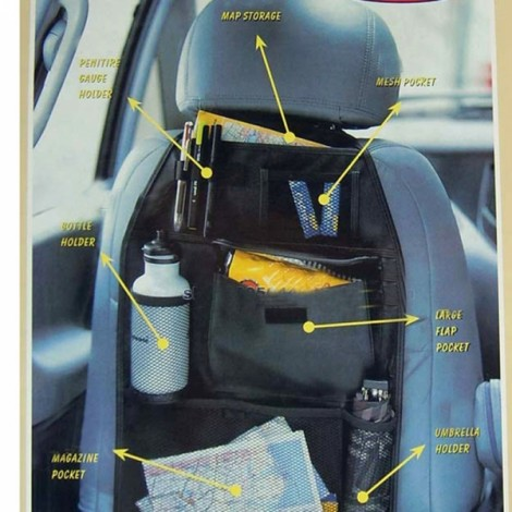 Car Back Seat Storage Bag Tidy Multi Pocket Hanging Organizer Travel Holder Black