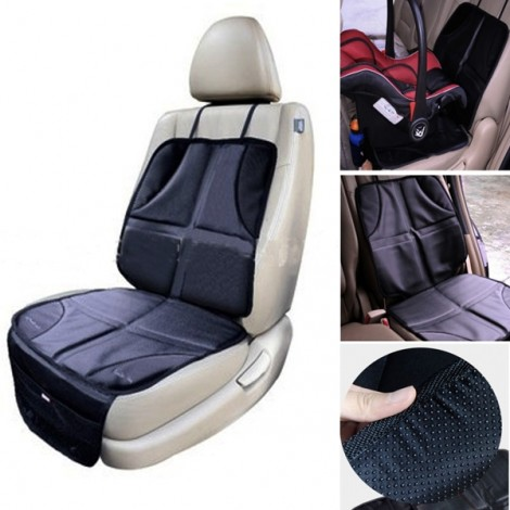 Car Auto Baby Infant Child Safety Seat Protector Anti-slip Cushion Cover Black & Gray
