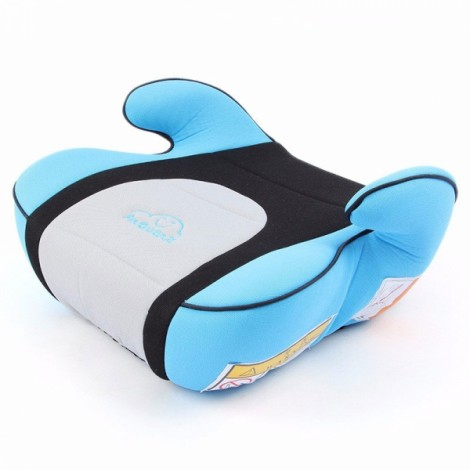 Portable Car Seat Safety Cushion Mat for 3-12 Years Old Baby Child Blue