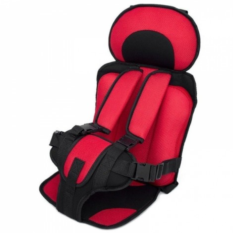 Portable Thickened Baby Child Safety Car Seat Red S