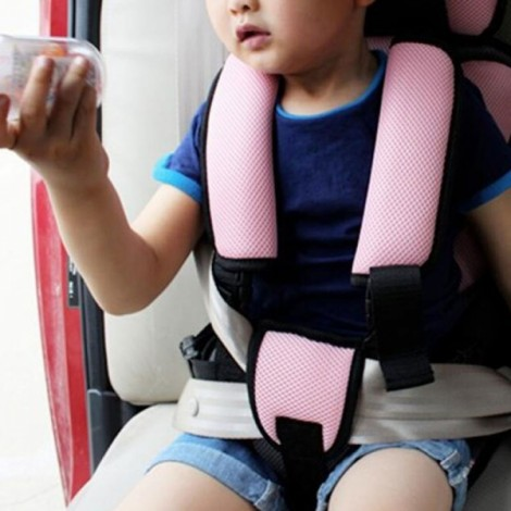 Portable Thickened Baby Child Safety Car Seat Pink S