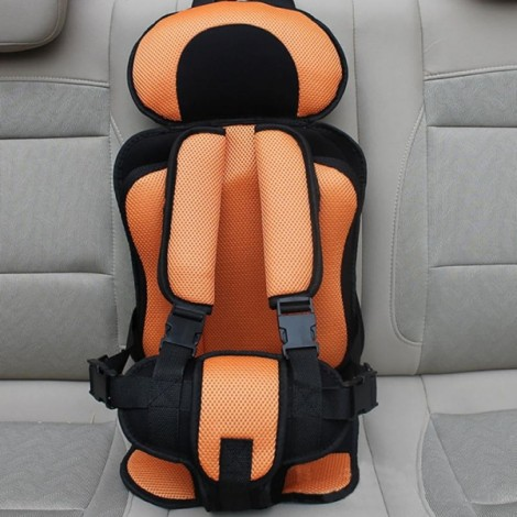 Portable Thickened Baby Child Safety Car Seat Orange S