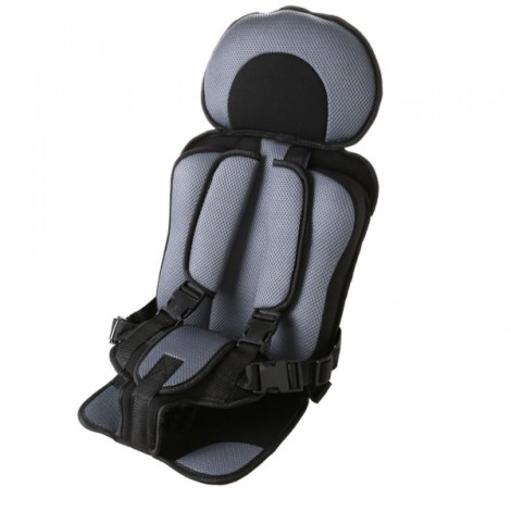 Portable Thickened Baby Child Safety Car Seat Gray & Black L
