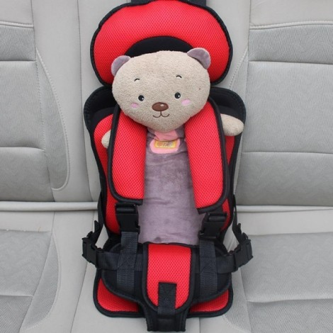 Portable Thickened Baby Child Safety Car Seat Red L