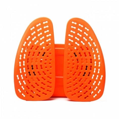 Car Seat Chair Massage Back Lumbar Support Mesh Ventilate Cushion Pad Orange