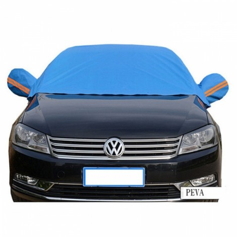 Thicken Sunshade Waterproof Anti-UV Snow Protection Cover Car Windscreen Cover for Ordinary Cars Blue