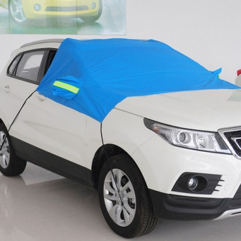 Thicken Sunshade Waterproof Anti-UV Snow Protection Cover Car Windscreen Cover for SUV Blue