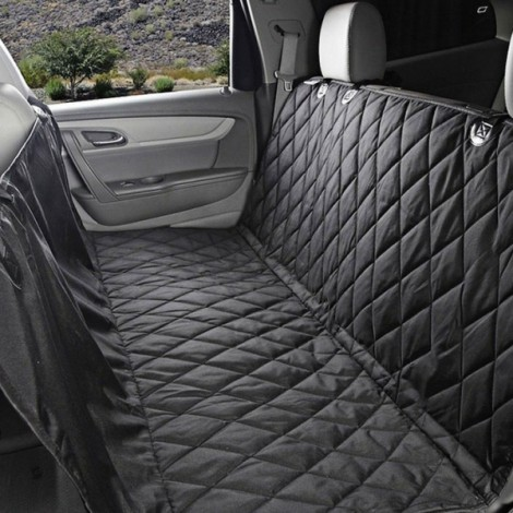 Large Dogs Car Carrier Storage Bag 600D Oxford Seat Cover for Travel 147 x 137cm Black