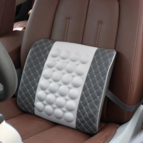 Electric Massage Lumbar Support Car Pillow Massage Cushion Gray