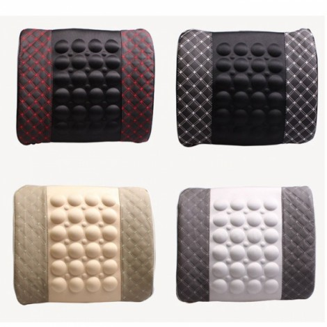 Electric Massage Lumbar Support Car Pillow Massage Cushion Beige