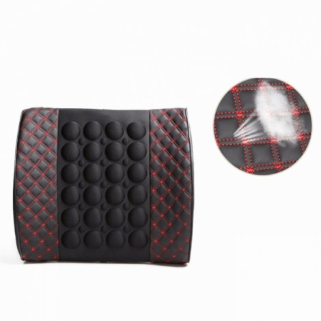 Electric Massage Lumbar Support Car Pillow Massage Cushion Red & Black