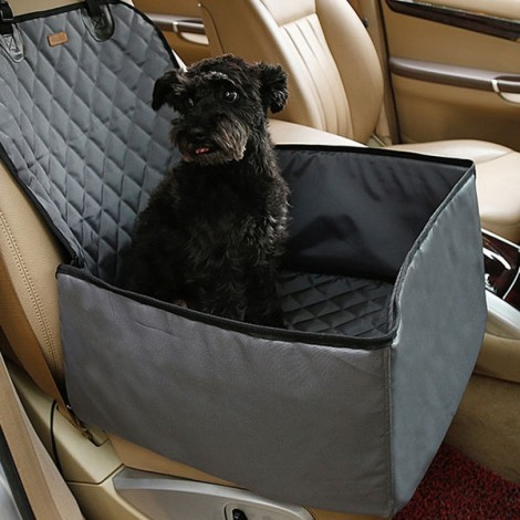 Pet Car Carrier Storage Bag Waterproof Seat Cover for Travel 45 x 45 x 58CM Gray